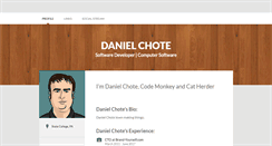 Desktop Screenshot of danielchote.brandyourself.com