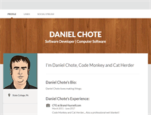 Tablet Screenshot of danielchote.brandyourself.com