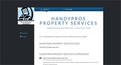 Desktop Screenshot of handyprospropertyservices.brandyourself.com