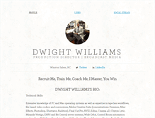 Tablet Screenshot of dwightwilliams.brandyourself.com